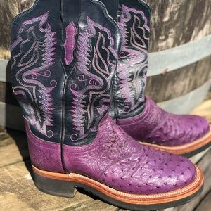 Lucchese 2000 Purple Ostrich Boots